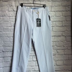 NWT Nautica Authentic Blue Pearl Striped Pants 34W